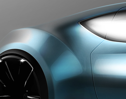 Toyota 2000GT Concept Sketch