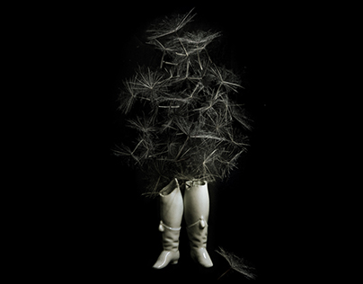 """Wishing Ghost I & II"" // Digital Collage"