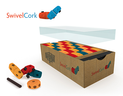 SwivelCork: Sustainable Construction Toy