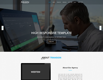 Aquaite - Business Free One Page Bootstrap Template