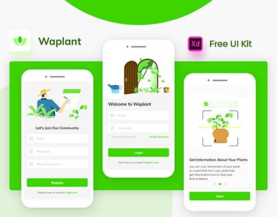 Waplant Plants Mobile Apps Free UI UX kit