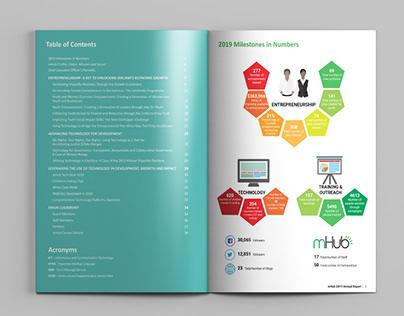 mHub Annual Report design