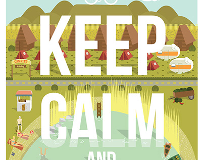 Keep calm and ride on | Print design