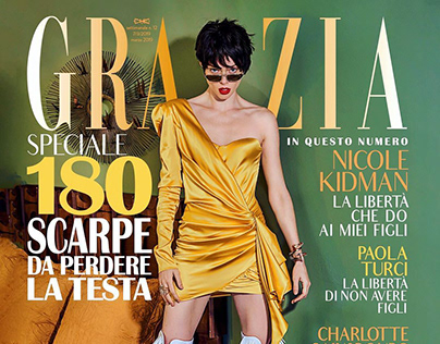 Cover with Coco Rocha for Grazia Italy