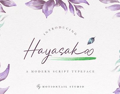 Hayasaka - Modern Script font