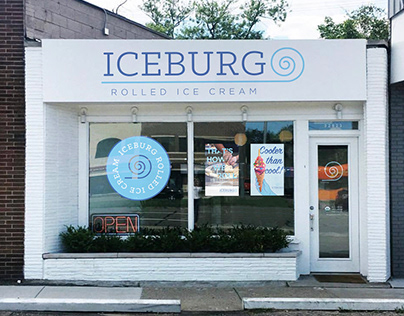 IceBurg Rolled Ice Cream - Rebrand