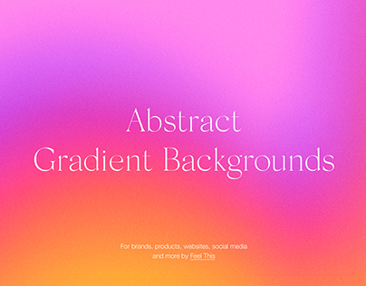 Abstract Bright Gradient Backgrounds With Grain Texture
