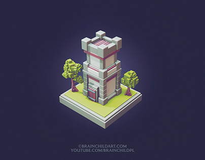 LOW POLY Cube Worlds #8 | Flat Shaded | Blender 3D