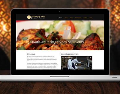 Asha Balti House Branding & Website