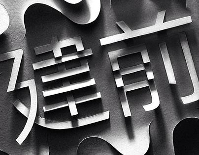 Papercut Typography (2016)