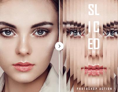 Sliced Mirror Photoshop Action