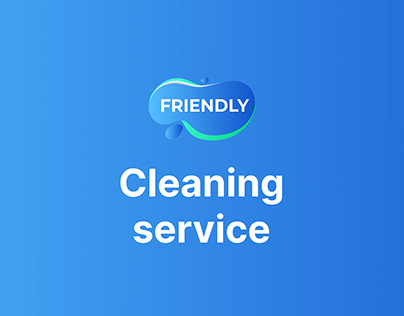 Friendly — landing for cleaning service