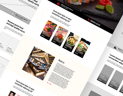 UX/UI - Website One Page - Kitsune Restaurant