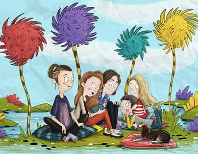Family in Dr.Seuss world