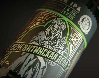 "Brewlok Brewery ""Russian gothic"" SKU line restyling"