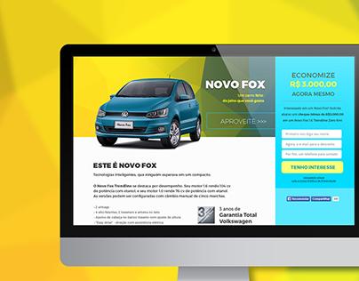 Landing Page Novo Fox