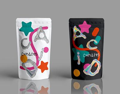 acid candies packaging design