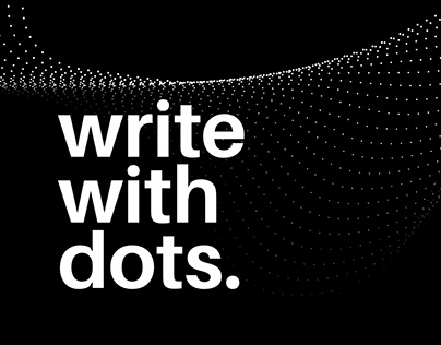 write with dots.