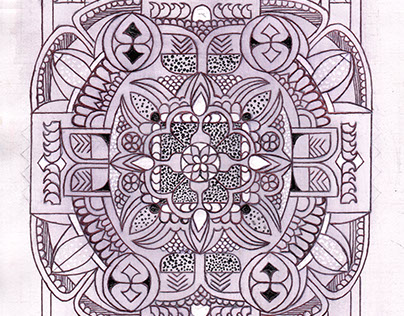 Botanically inspired zentangle - Rose addition