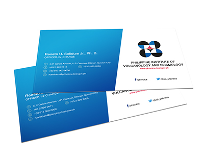 PHIVOLCS Business Card