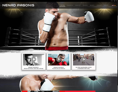 Nenad Pagonis Serbian Kickbox. champ. Official Web page