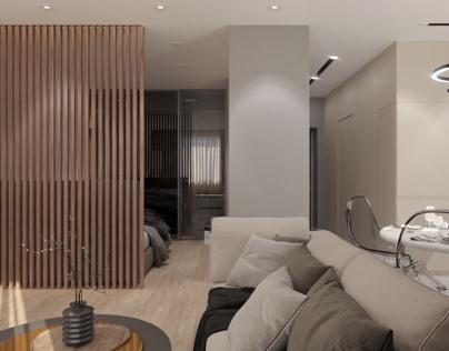 Дизайн проект квартиры площадью 40 м кв.