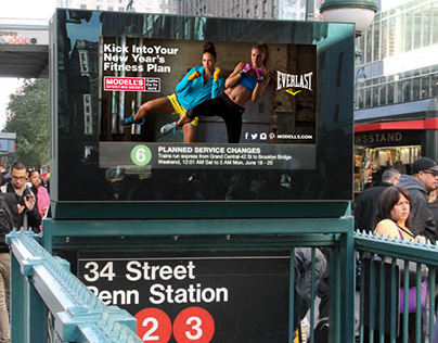 Modell's Urban Panels Fitness Campaign