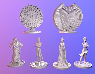 "souvenir figurines for ""Poslednii Bogatir"" movie"