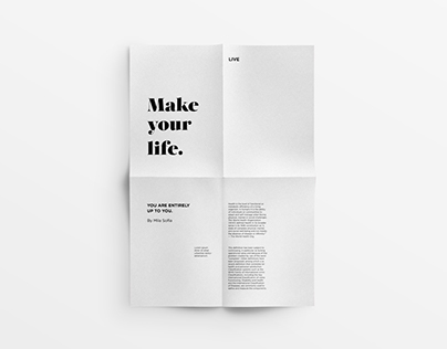 Make Your Life Poster