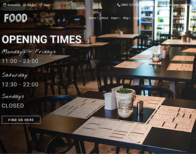 Times Slider - Food WordPress Theme