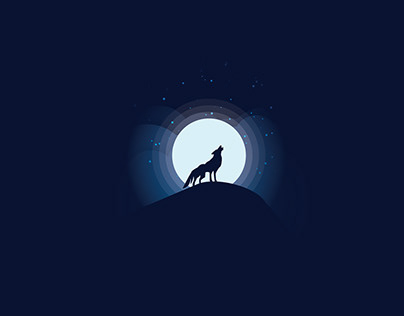 //Moonlight Wolf Illustration