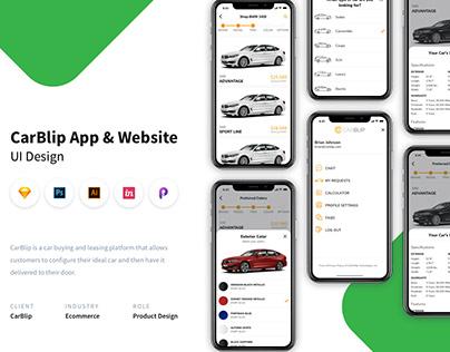 E-commerce Car Sales Application & Web Design