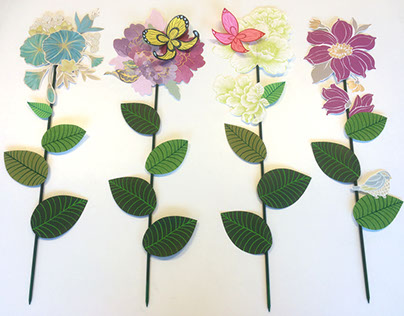 Store window dressing - paper decorations