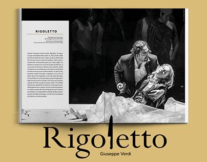 Rigoletto programme / Teatro Mayor - 5 years