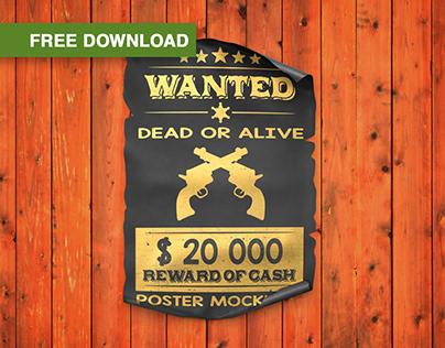 Free PSD-mockups   Paper Poster