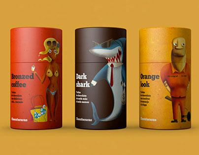 Ilustraciones para Packs de Chocolocuras. 2016.