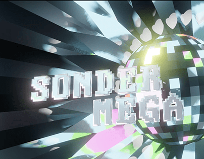 3D Animation - Disco ball & Pixelated Intro Logo