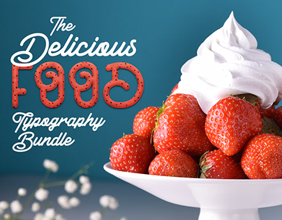 The Delicious Food Typography Bundle