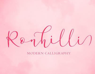 Ronhilli FREE Script Font