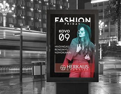 """Herkaus galerija"" Fashion Friday poster"