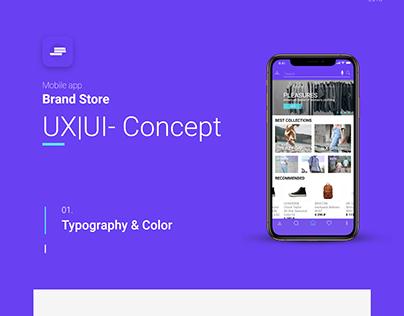 Mobile User Interface Design Online Store App