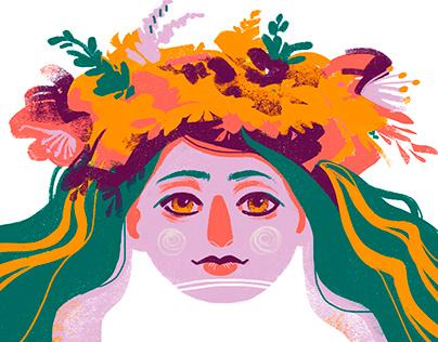 Calendar on Ukrainian mythology