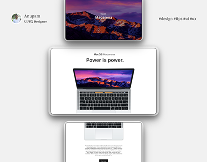 Parallax auto animate & screen design for Productpage