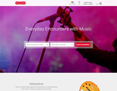 OMSI Website Redesign