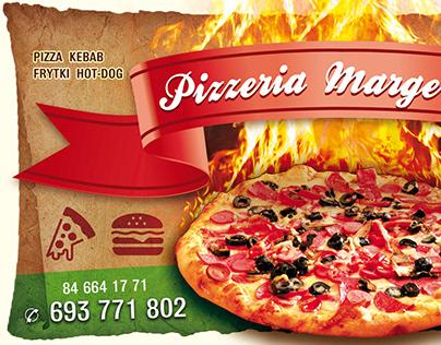 Pizzeria Margeritka - szyld