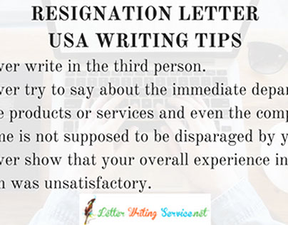 Resignation Letter USA