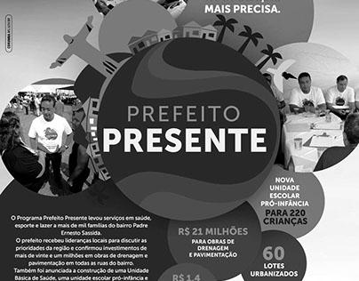 Anúncio Prefeito Presente Prefeitura de Corumbá/MS