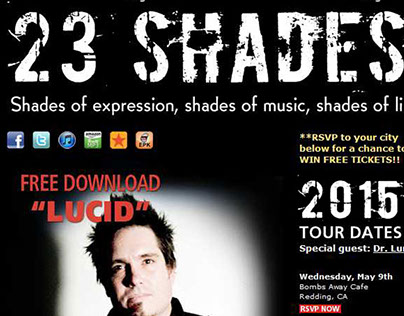 23 Shades html email - Upcoming Tour Dates