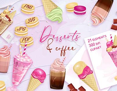 Summer desserts set