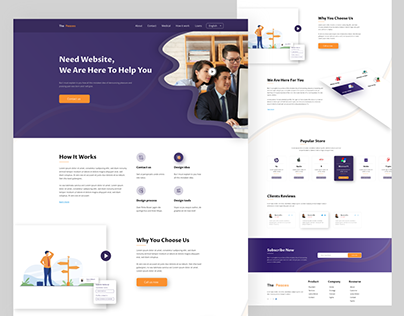 website landing page agency